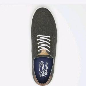 NEW Original Penguin Mens Douglas Black Sneakers